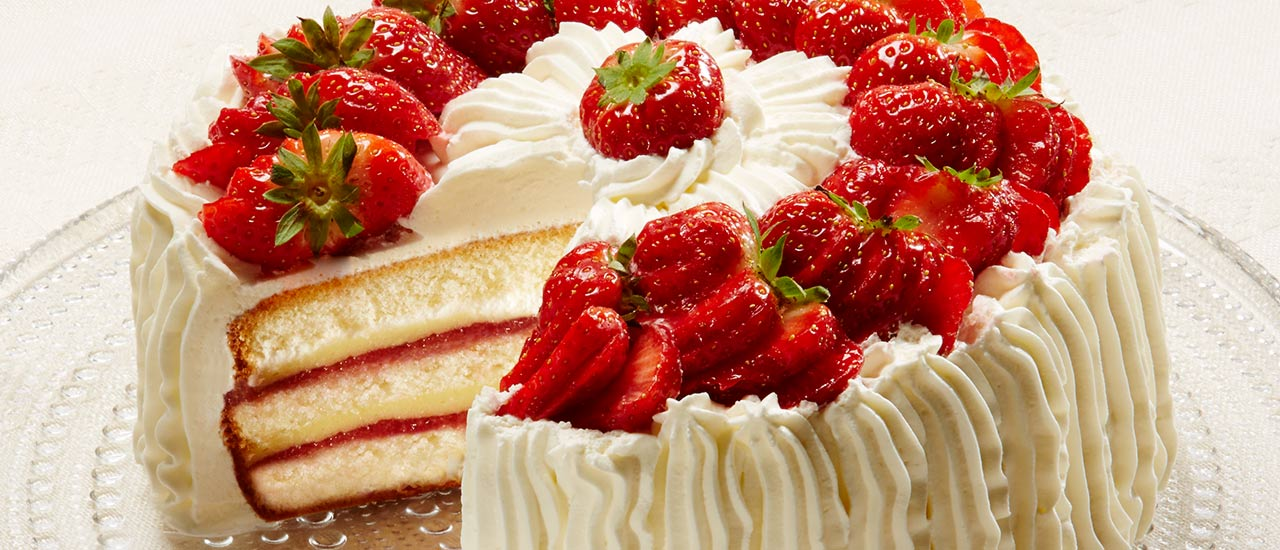 Strawberry cake with quark